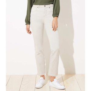 NEW LOFT High Waist Straight Fray Hem Jeans 28/6